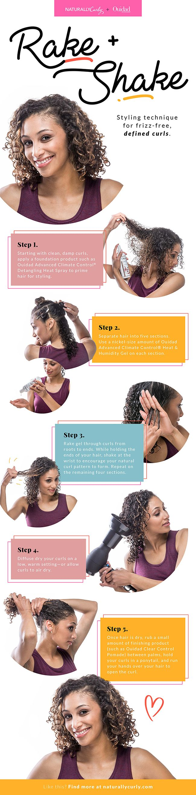 Ouidad created this signature method that's now used in salons and by fans of the product line.