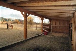 Free Loafing Shed Plans - open wood shed.