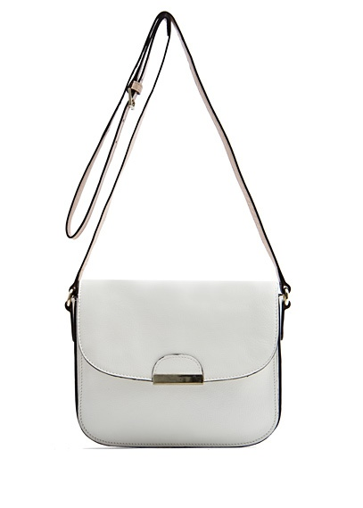 TOUCH - Leather messenger handbag by MANGO