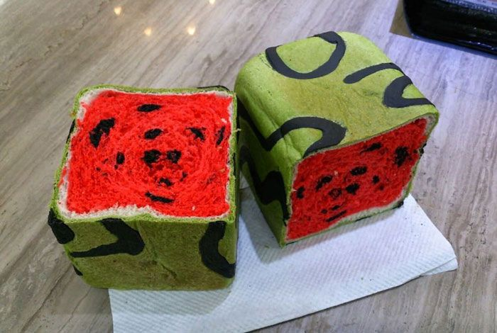 Taiwan Invents Square Watermelon Bread That Is Delicious And Confusing | Bored Panda
