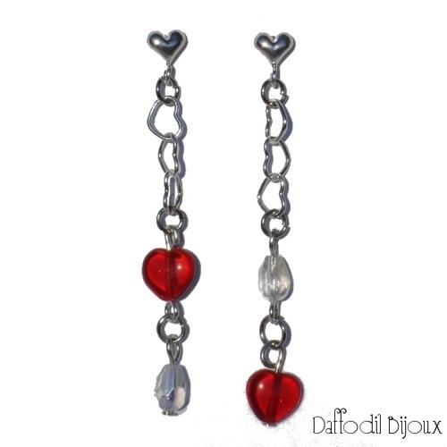 Orecchini Red Tender  Red Tender Earrings by Daffodil Bijoux