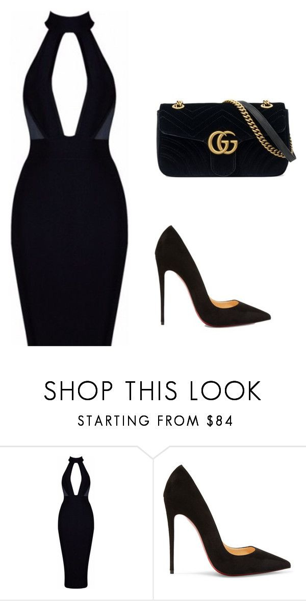 """BussinesWoman Style"" by c-abrjolemmy ❤ liked on Polyvore featuring Christian Louboutin and Gucci"
