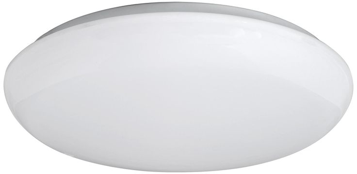 "Levine Shallow Flushmount 14"" Wide White LED Ceiling Light -"