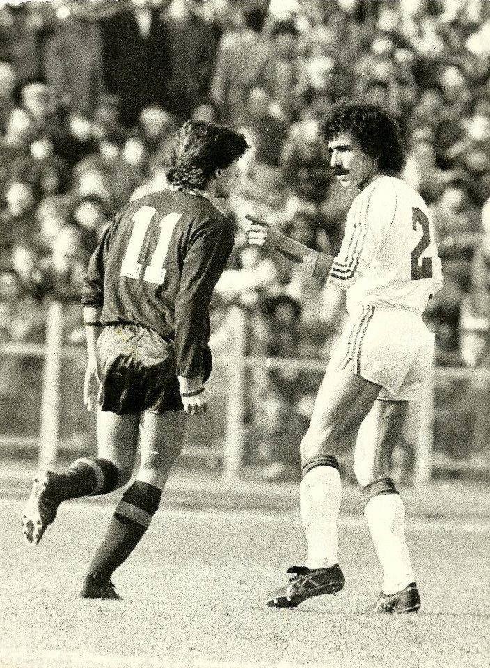 Roma-1 Benfica-2 Taça UEFA 1982/1983, Quartos-de-Final-1ª Mão Bruno Conti e Minervino Pietra.