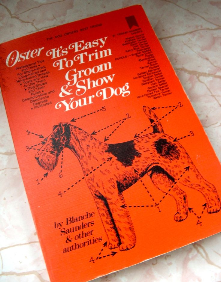 1970 Book Oster Clipper Dog Grooming and Showing Guide by lookonmytreasures on Etsy