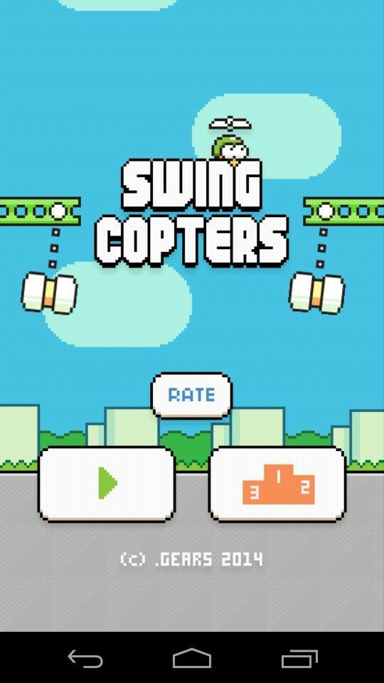 Swing Copters home menu