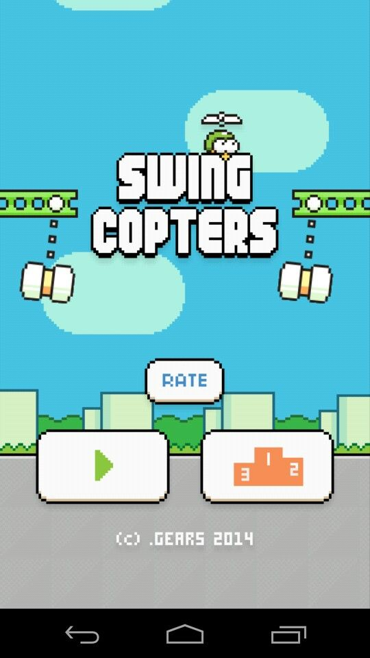 Swing Copters home menu