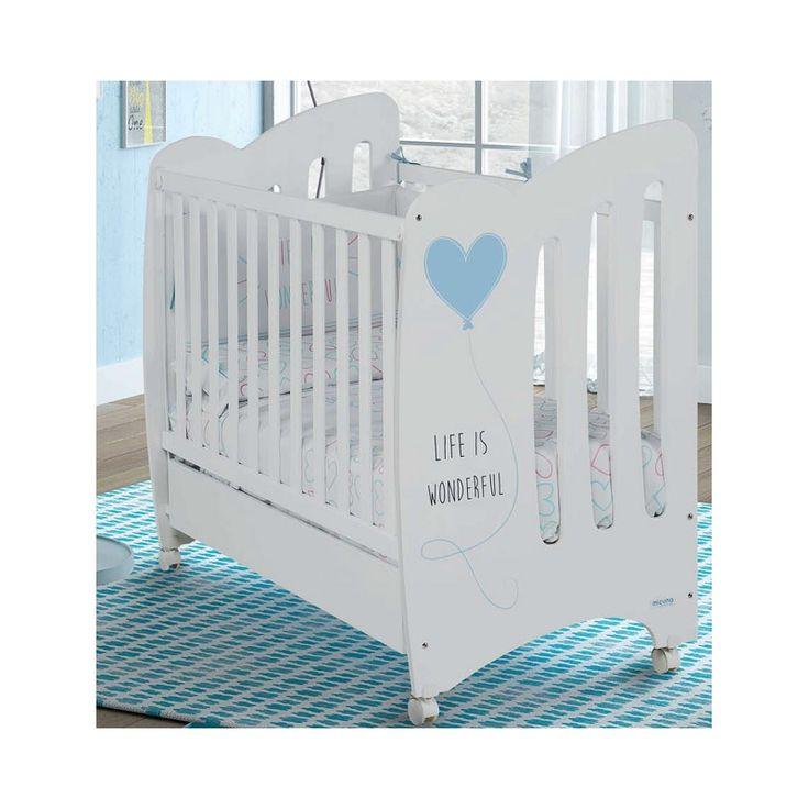 Cuna para bebé Wonderful de Micuna con corazón azul