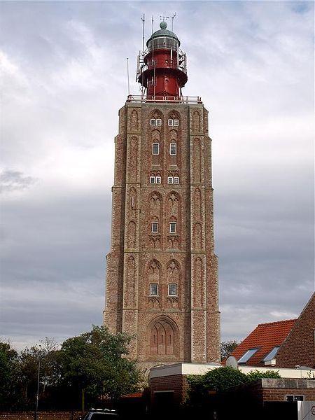 Hoge vuurtoren van Westkapelle, Westkapelle, Zeeland, 1458-1470 (Vuurtoren sinds 1818)