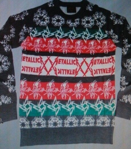 metallica christmas sweater holidays pinterest - Metallica Christmas Sweater