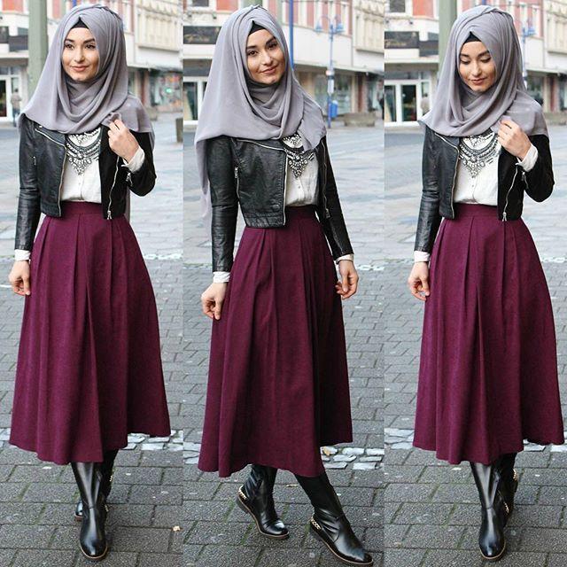 Skirt / Rock / Etek - www.misselegance.de Jacket / Jacke / Ceket - H&M Shirt / Hemd / Gömlek - H&M trage selten Röcke aber habe mich in diese Farbe verliebt ❤️