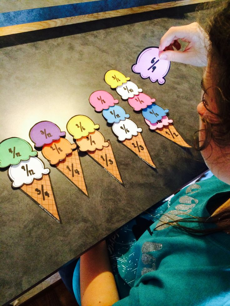 Free Equivalent Fractions Ice Cream Match - My kids love this activity in our…