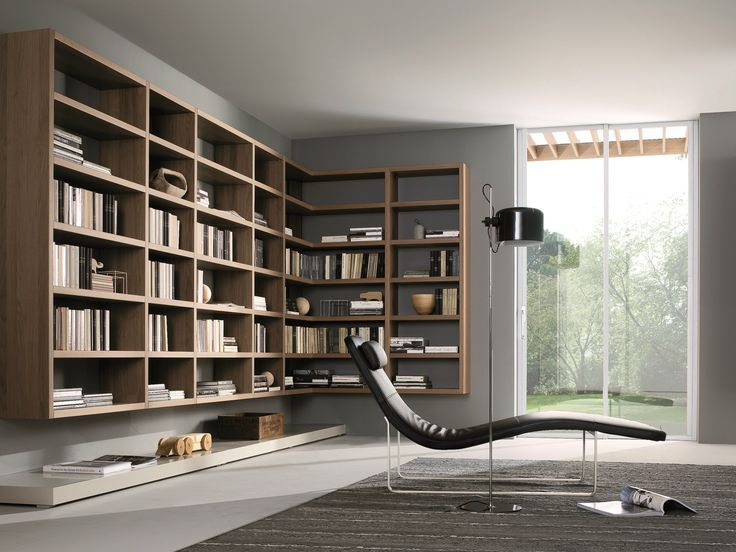 20 Modern Living Room Wall Units For Book Storage From Misuraemme : 20  Modern Living Room Wall Units With White Grey Wall Wooden Book Storage  Window Lamp ...