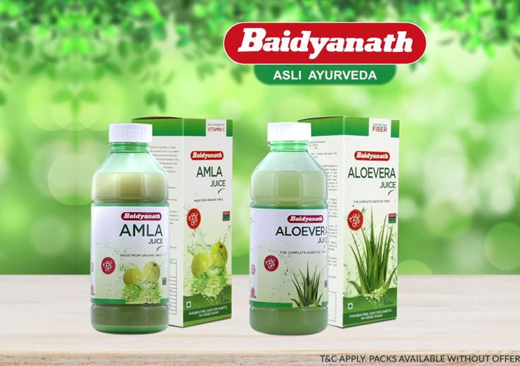 Baidyanath's range of natural juices, including amla, aloe vera