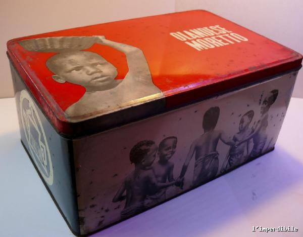 Antica scatola di latta della Crastan Olandese Moretto caffè | eBay