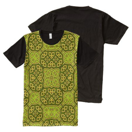 Abstract Pattern yellow All-Over-Print T-Shirt - click to get yours right now!