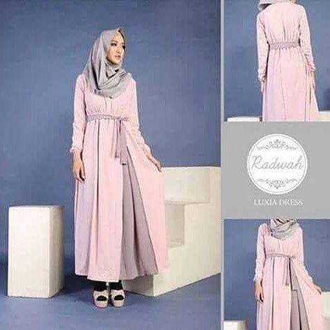 luxia dress (pasmina+obi) bahan jersey Allsize fit to L @105.000 ( blm ongkir )  Minat hub : SMS/WA 089512795328