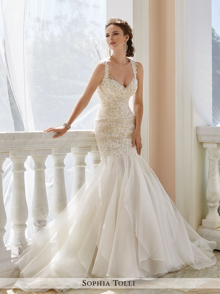 20 best Bridal Gowns, Sophia Tolli, Fall \'16 images on Pinterest ...