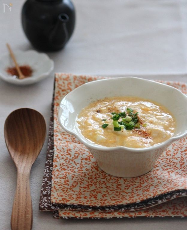 お豆腐のとろとろかき玉あん。 by 栁川かおり