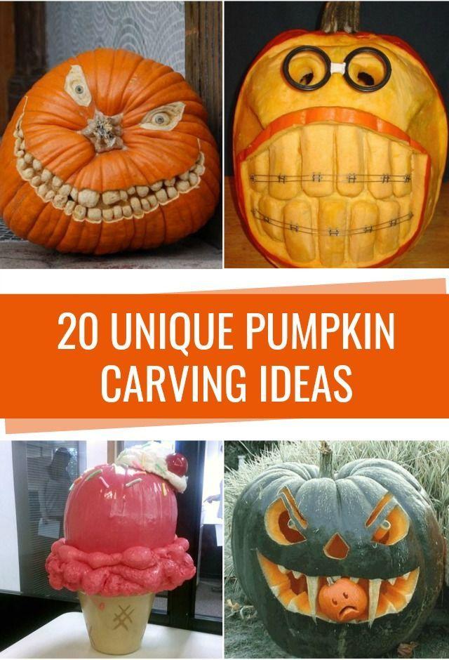DIY Crafts  Unique pumpkin carving ideas and no carve