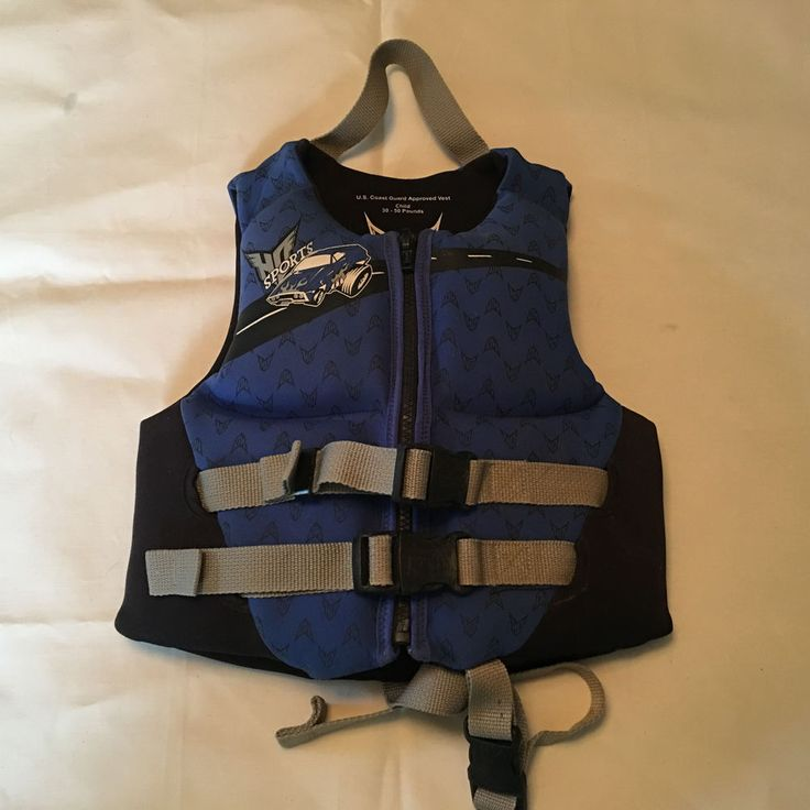 HO Sports Neoprene Life Jacket Ski Wake Boarding Vest Size Child 30 50lbs #HOSPORTS