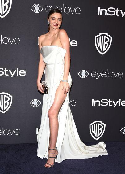 Golden Globes 2017 Dresses – Red Carpet Dresses & Outfits   British Vogue #mirandakerr