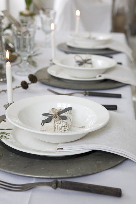 Pewter place setting  ... #rustic #winter #wedding ... https://itunes.apple.com/us/app/the-gold-wedding-planner/id498112599?ls=1=8 … Tips on how to organise your dream wedding, within your budget ♥