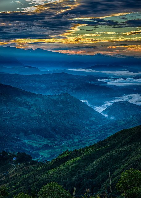 Sunrise over the Himalayas by alangrainger, via Flickr: Mountain, Central Nepal, Blue, Sunris, Mothers Nature, Beautiful Sunset, Earth, Places, Nature Beautiful