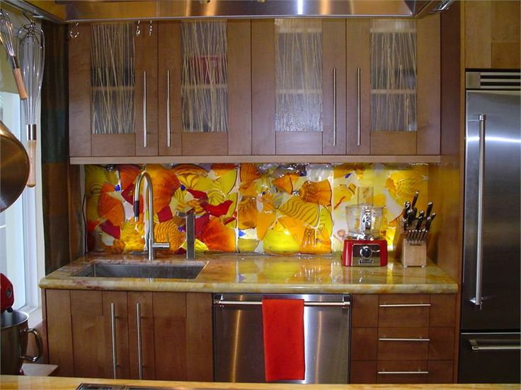 Fused Glass Backsplash Counters And Backsplashes Hand Blown Glass Fused And Slumped By