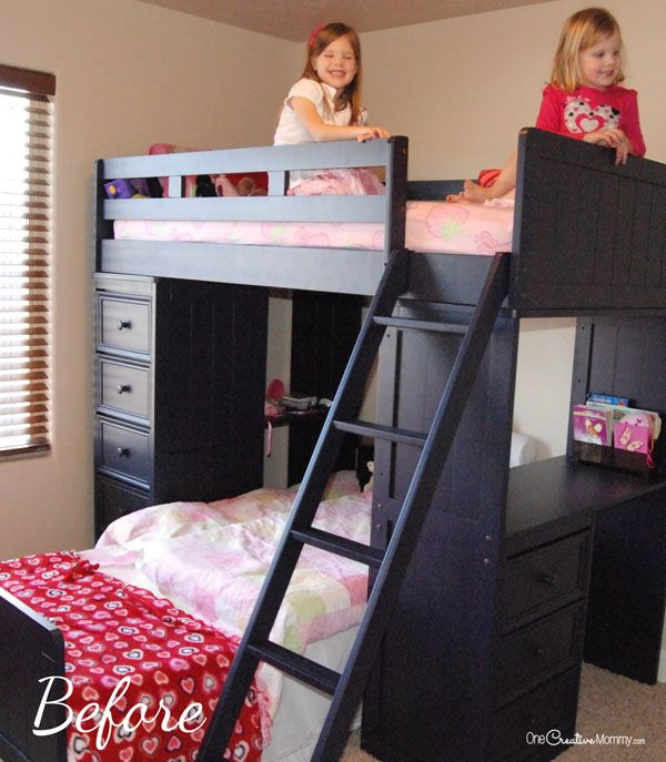 If you have an extra sheet and a bunk bed, you can turn your boring bed into a cool bunk bed fort. Your kids will love it!