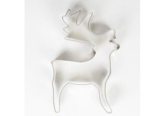 Richard John Benedict Stone a commencé en 1996 à importer quelques produits d'Inde et à les distribuer en Angleterre. Il a ensuite créé sa propre marque, Sass & Belle. Cookie cutter en forme de grand renne.En acier inoxydable, il sera parfait pour faire de délicieux gateaux ou pour offriràNoël.