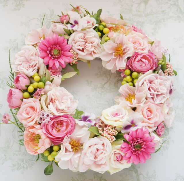 Fleuriste mignon style Diproma Course 35㎝リース