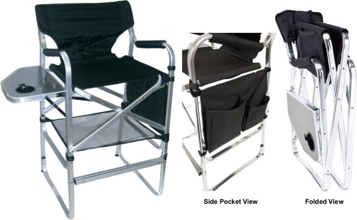 The Portable Makeup Chair with Side Table�is the professional makeup artist's�number one choice�to add to�their kit presence, and vital piece of equipment�for those on-location makeup jobs.� This sleek design made of�lightweight aluminum along�with some handy features makes this important piece of makeup artist equipment a snap to carry.See details for more information.