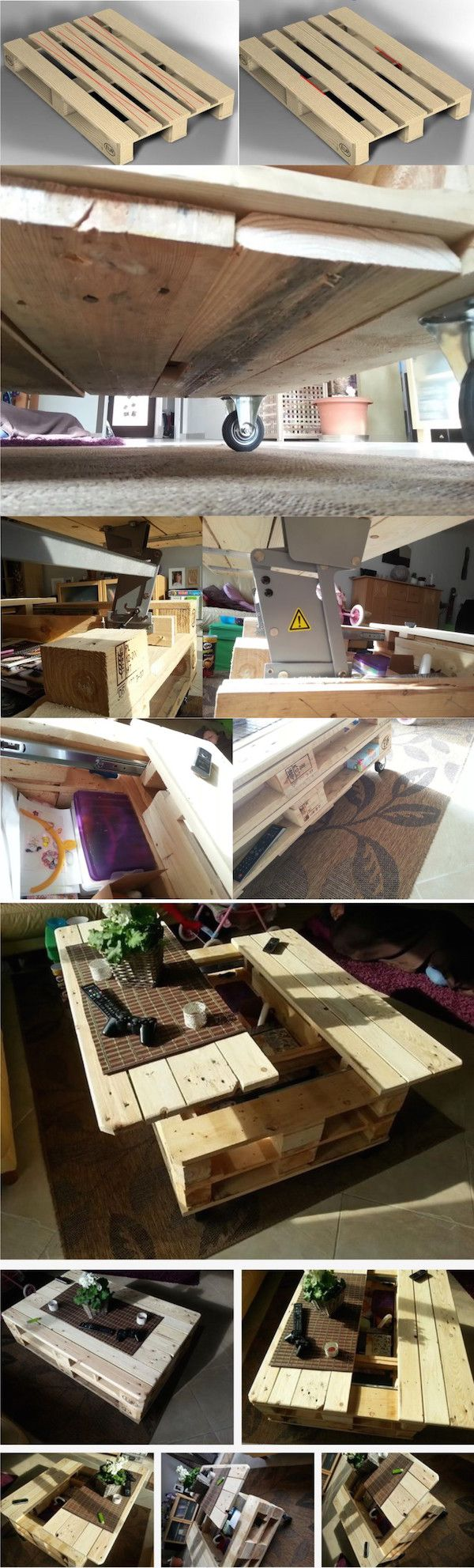 Modular Pallet Coffee Table With Storage