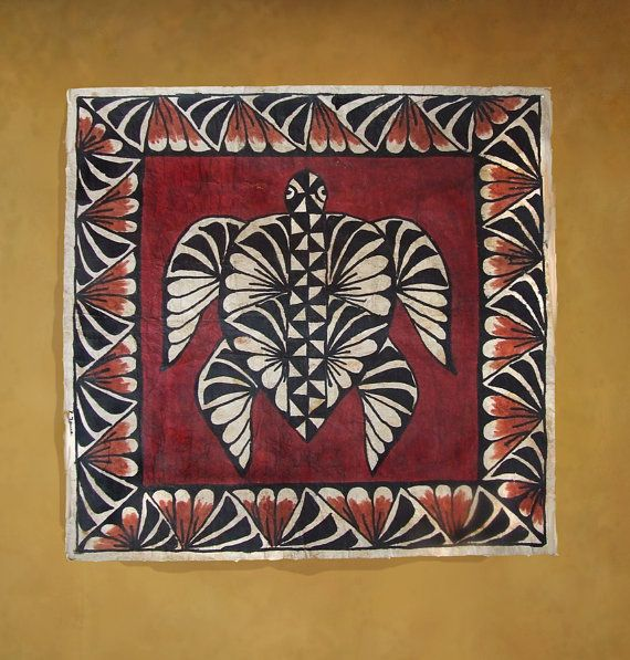 Authentic Vintage Ngatu Or Tapa Cloth From The By