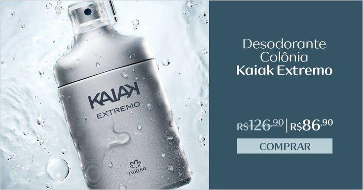 O desodorante colônia Kaiak Extremo tem caminho olfativo de ervas envolvente, que intensifica as principais notas da fragrância clássica de Kaiak. Compre online e aproveite o desconto especial. Promoção válida de 31/05 a 06/06, ou enquanto durarem os estoques.