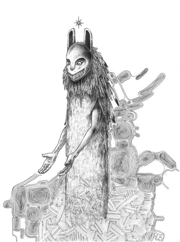 Wolf mask.  #allandiegocarrasco # mask #nativeamericans #drawing