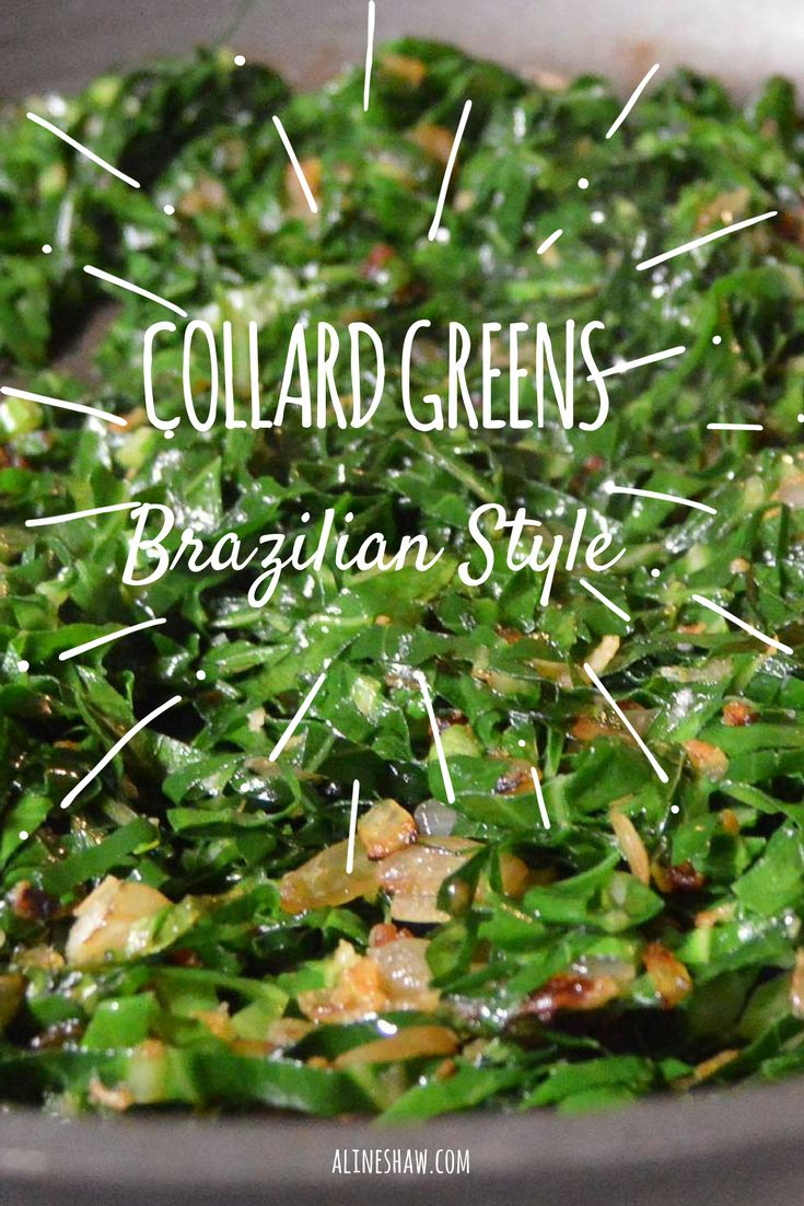Brazilian Style Collard Greens | Side Dish | Brazilian Recipes | Easy Recipes | Vegan Recipes | Brazilian Food | Authentic Brazilian