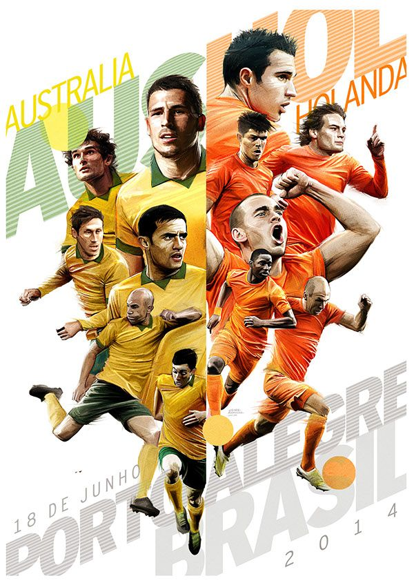 Brasil 2014, Match posters by Gonza Rodriguez, via Behance