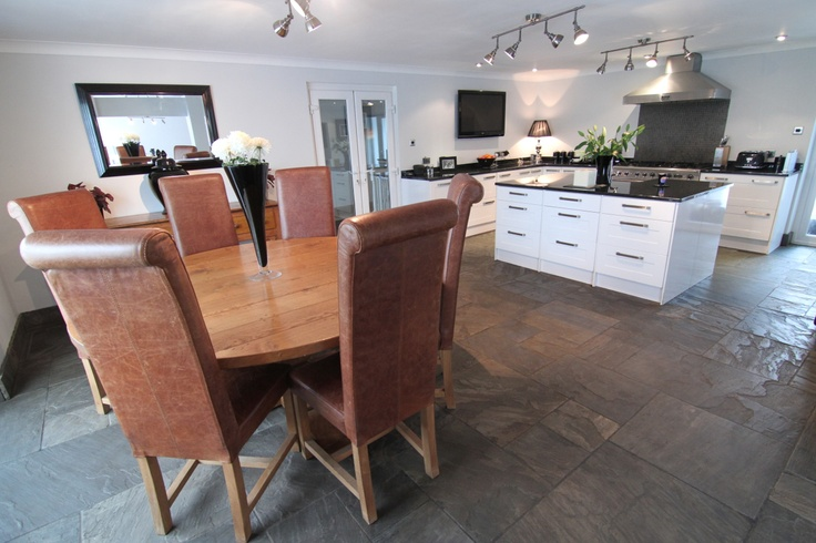 Abergavenny, Govilon - This property has a fitted kitchen / dining room with stylish granite work surfaces and fitted appliances plus ample space for a formal dining table.  www.pablack.co.uk