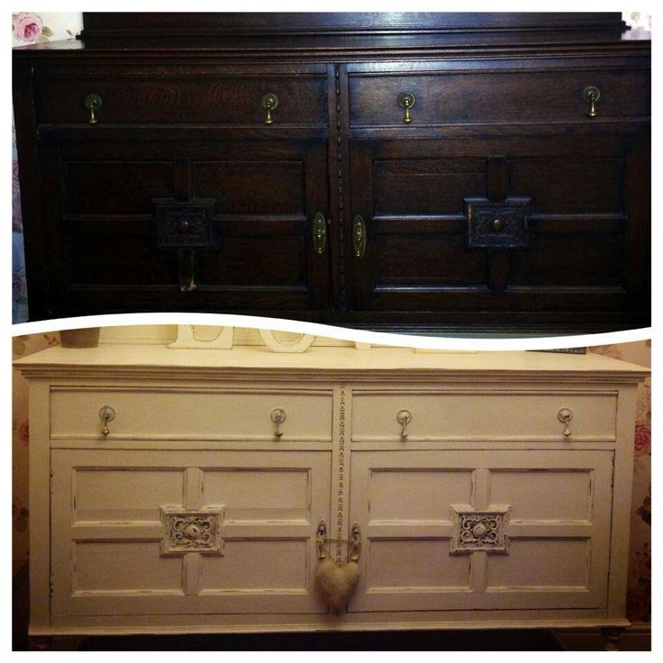 Sideboard before & after, Bella Chic Furniture, Annie Sloane original chalk paint: