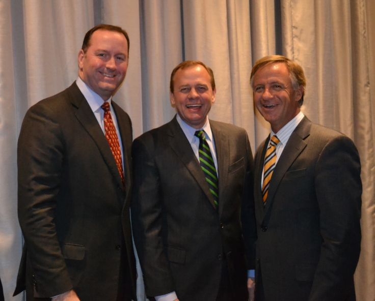 Congressman Fincher w/ Dexter Mueller, Shelby Trustee David Lenoir, and Gov. Haslam  22 January 2014