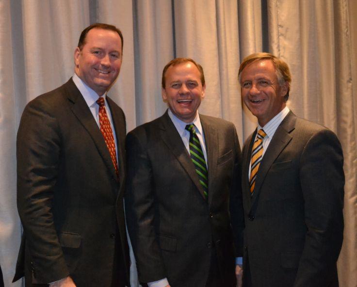 Congressman Fincher w/ Dexter Mueller, Shelby Trustee David Lenoir, and Gov. Haslam  22 January 2014