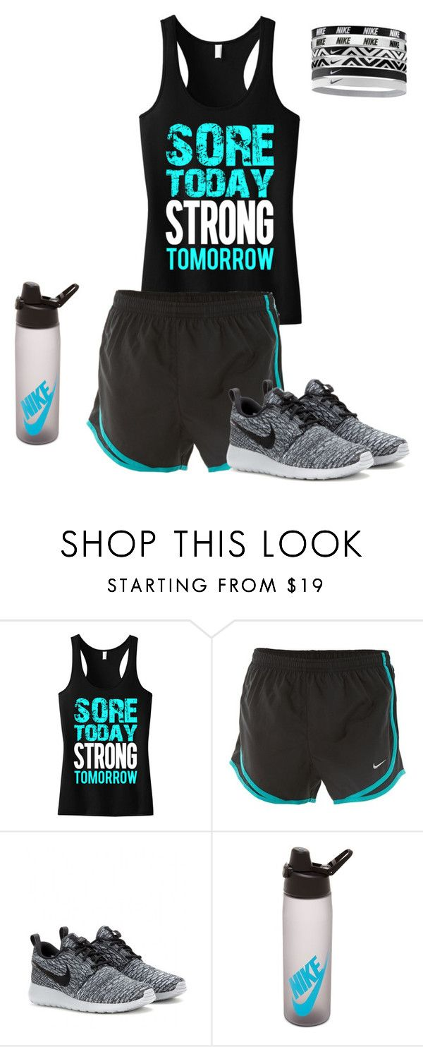 """Crossfit Outfit"" by vballgirl28 ❤ liked on Polyvore featuring NIKE"
