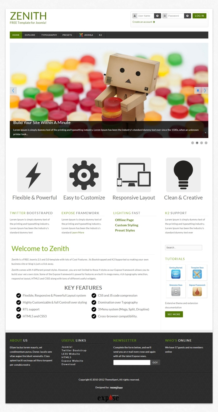 Zenith is a #FREE Joomla 2.5 and 3.0 template for your #business or blog site. Its #Bootstrapped.