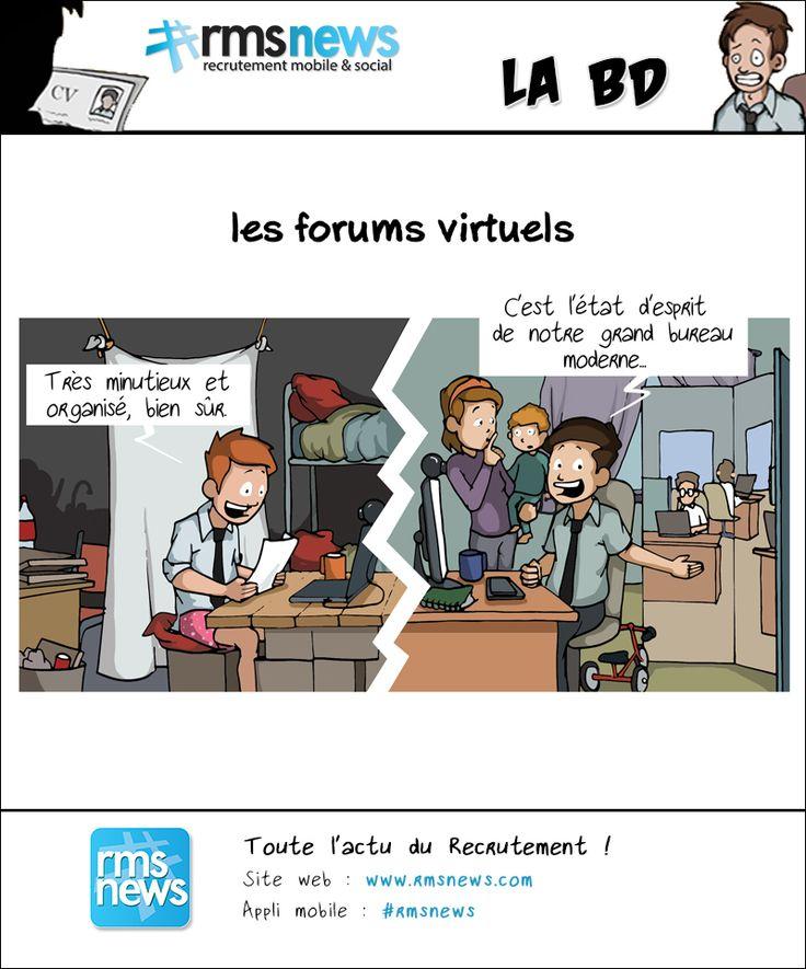 La réalité des forums virtuels de recrutement