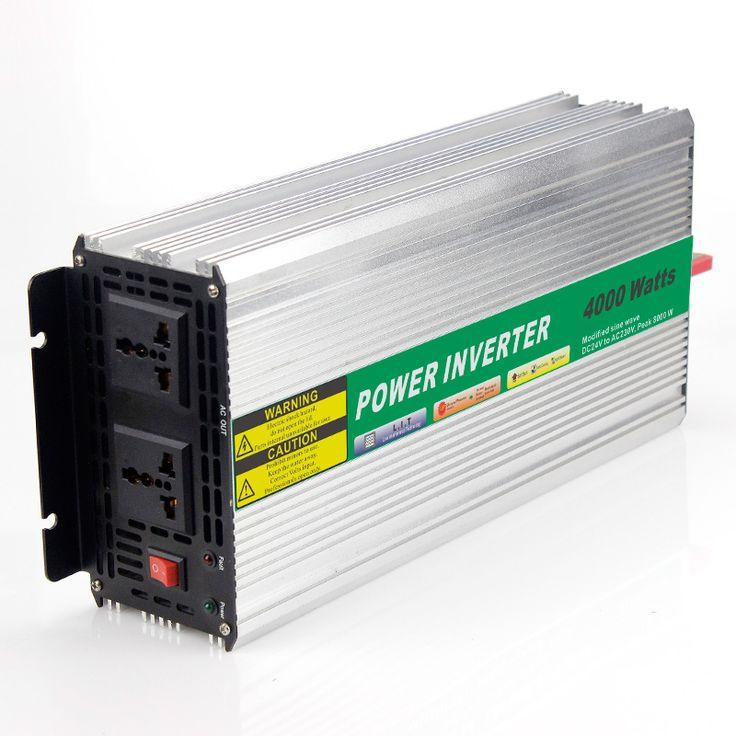 MAYLAR@ 48VDC 4000W Modified Sine Wave AC 110V or 220V Car Power Inverter Converter Power Solar inverters Off grid tie system #Affiliate