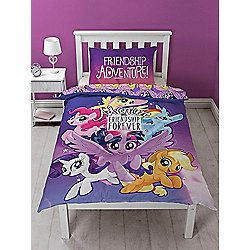 My Little Pony Movie Reversible Single Duvet Cover and Pillowcase Set