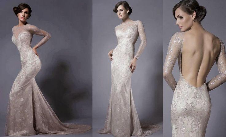 Elegant open back wedding dresses