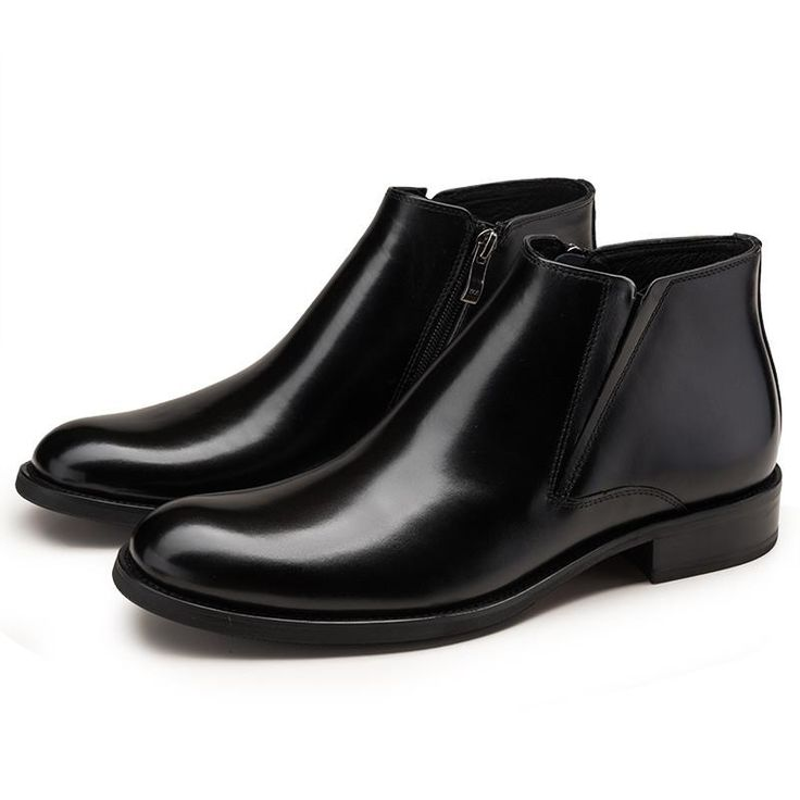 Mens ankle boots genuine leather - mens safety shoes